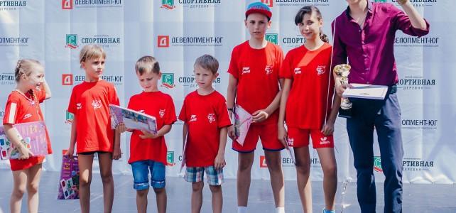 Фото с выступления наших детей на открытии «Спортивной деревни»